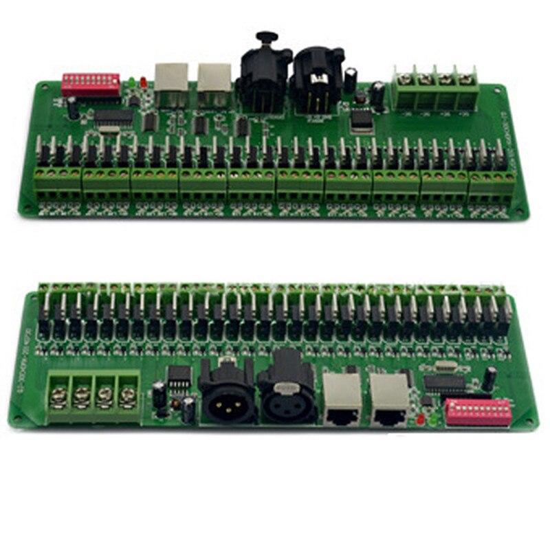 30 canaux DMX 512 rgb LED bande contrôleur dmx décodeur pilote gradateur DC9V-24V Pour LED Éclairage
