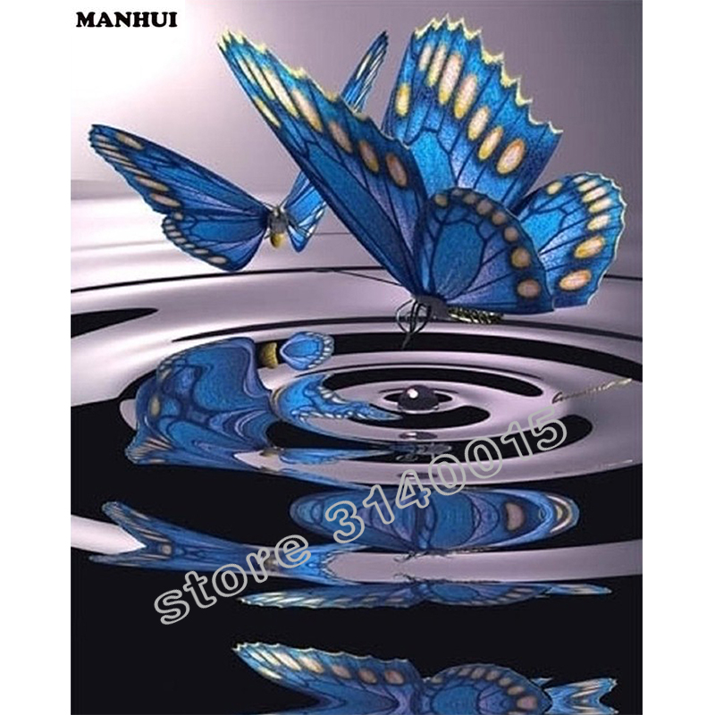 5D Diamond Embroidery blue butterfly DIY Diamond Mosaic Patterns rhinestones Daimond painting Art Picture Home Decor BAC011