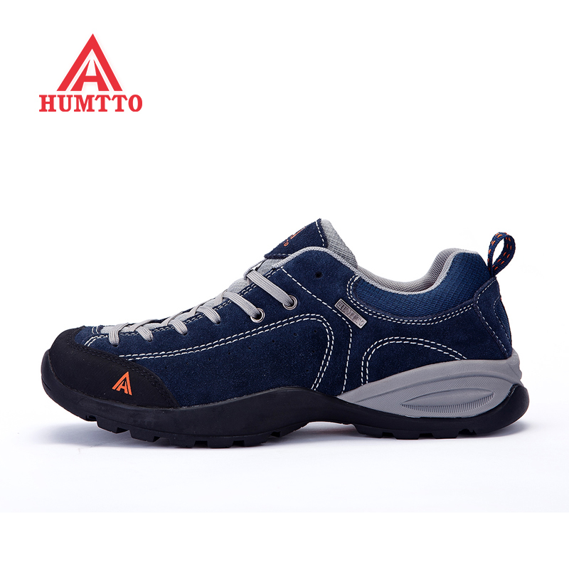 ФОТО  Outdoor Shoes Men Real Leather Hiking Shoes Breathable Trekking Shoes Waterproof Climbing