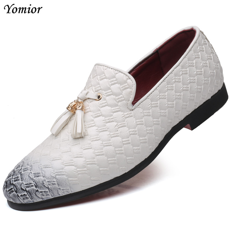 Systematic 2019 Pointed Toe Slip-on Spring/autumn Men Casual Shoes Formal Dress Flats Weaving Tassel Loafers Office Wedding Driving Shoes For Improving Blood Circulation Shoes