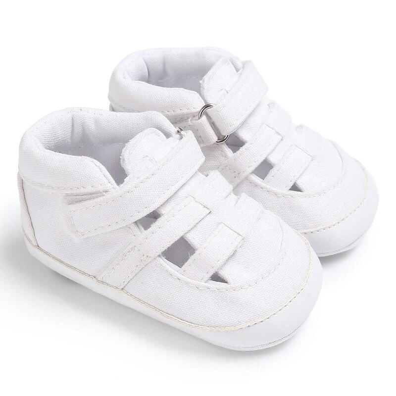 Summer Newborn Baby Boys Girls Shoes Kids Canvas Soft Bottom Anti-Slip First Walkers 0-18M