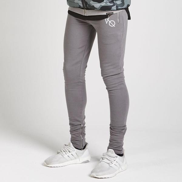 HOT 2021 Outdoor muscle Sport fitness recreational modal Jogging running GYM elastic skinny pants zipper foot men\\\'s pants