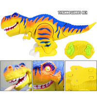 Remote Control RC T Rex Dinosaur Electronic Toy Action Figure Moving & Walking Robot w/ Roaring Sounds & Chomping Mouth, Realist