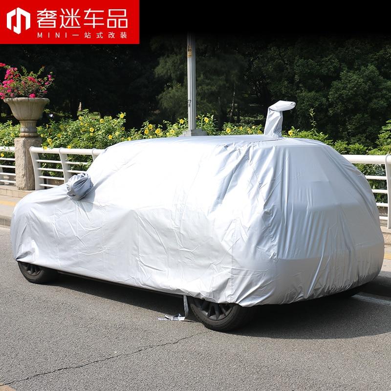 1 set taille spéciale revêtement de voiture protection solaire étanche à la poussière bâche de voiture pour BMW MINI cooper countryman clubman F54 F55 F56 F60 R60 - 4