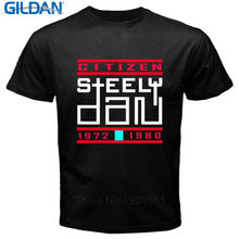 T Shirt 2017 New T Shirt Vintage Men'S Fashion Crew Neck Steely Dan Pop Rock Music Short-Sleeve T Shirts