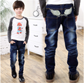Children Jeans Boys Embroidery Jeans Pants 2017 Spring Light Wash Boys Jeans for Boy Regular Elastic Waist Children's Jeans P251