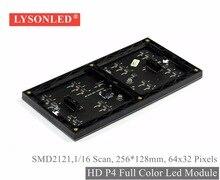 Lysonled 2017 продвижение HD P4 indoor Smd2121 полноцветный светодиодный дисплей модуль 256*128 мм, 1/16 сканирования в помещении P4 RGB светодиодный модуль 64×32
