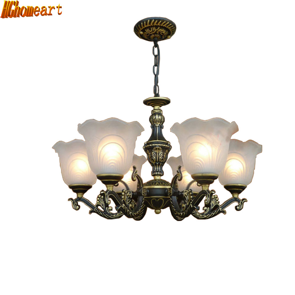 minimalist Continental Iron chandelier bedroom living room lighting dining kitchen retro chandelier ceiling lights e27 цена и фото