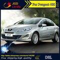 Free shipping ! 12V 6000k LED DRL Daytime running light for Peugeot 408 2013 fog lamp frame Fog light