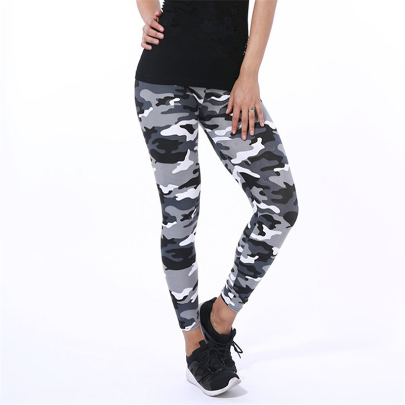 CHSDCSI Fitness Leggings Women High Elastic Print Camouflage Legging Pencil Pants Womens Fitness Leggins Sexy Plus Size Trousers