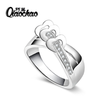 2 Carat Hearts & Arrows CZ 925 Sterling Silver Ring Women Wedding Luxury Engagement Party Jewelry Factory Direct Sale R70