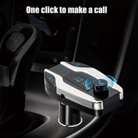 Bluetooth X7 Car Kit Handsfree FM Transmitter Radio MP3 Player USB Charger Silver for Phones