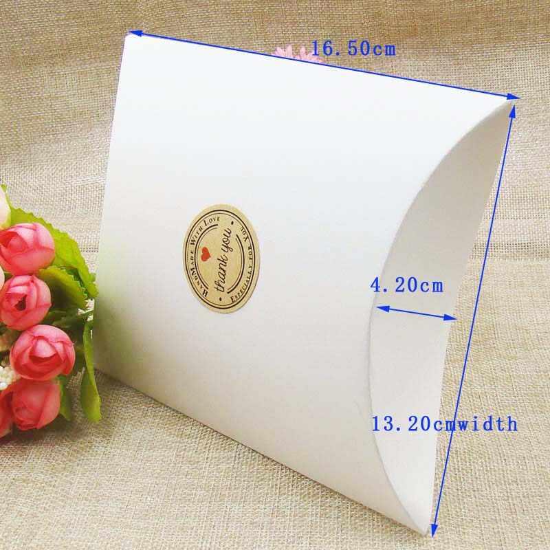 100pcs 2018  lot Kraft/black/white Pillow Shape Wedding Favor Gift Box Party Candy Box Wholesales Pillow boxes hot sale in 2018