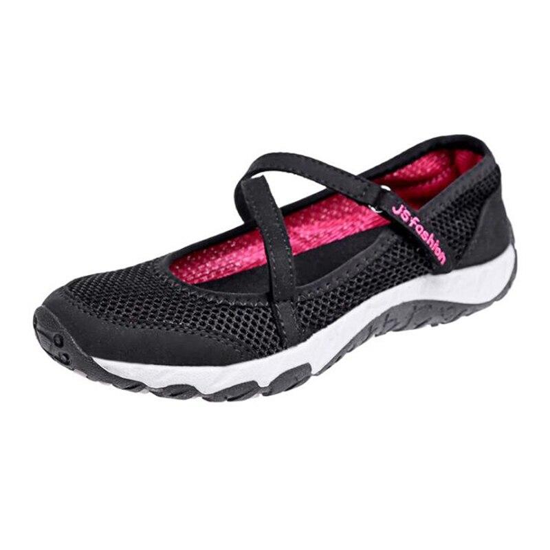 2019 morado Transpirables Zapatos Malla Trabajo Casuales C373 Moda Mujer Deporte Oscuro rosado De Nueva Mocasines Madre Negro Zapatillas 1w1xraq