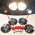 Smoke turn signal lenses with amber bulbs fits for Harley Road King Touring Models, FLST and FXRT