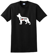 100% Cotton Summer Clothing Crew Neck German Shepherd Love Dog Paw Prints Short Design T Shirts For Men