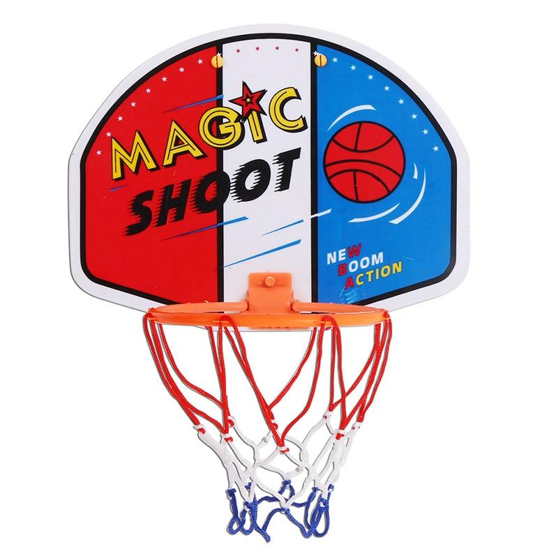 27*21cm Kids Basketball Sports Training Hoop Plastic Magic Shoot Indoor Mini Plastic Hoop Set Hanging Basketball Backboard