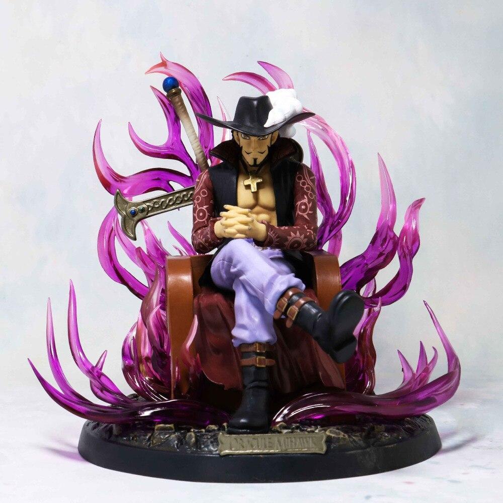 20 cm Dracule Mihawk assis trône Ver modèle PVC aigle oeil GK Statue Anime une pièce figurine à collectionner cadeau poupée nouveau