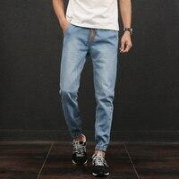 Classic Blue Men S Jeans Pant Casual Stretch Waist Ripped Jeans Men Plus Size 5XL Korean