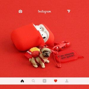 Image 5 - かわいい犬 Apple AirPods ケースカバー面白い Bluetooth イヤホンため Airpods 保護カバー漫画キーリング