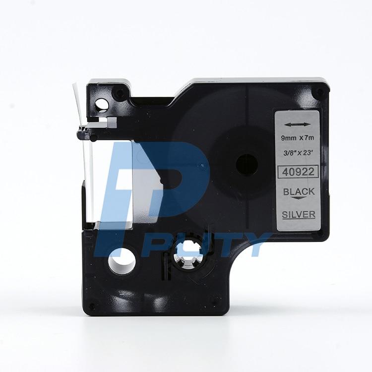 Flavor Genteel 5pcs 40922 Compatible Dymo D1 9mm Label Printer Black On Matte Silver Label Tapes Fragrant In