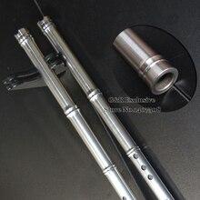 Нержавеющая сталь китайский Флейта Сяо традиционные профессиональный вертикальный музыкальный инструмент 8 отверстий в F/g ключ ручной работы в этническом стиле flauta