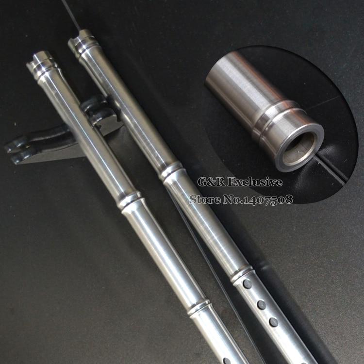 Нержавеющаясталь китайский Флейта Сяо традиционные профессиональный вертикальный музыкальный инструмент 8 отверстий в F/g ключ ручной раб