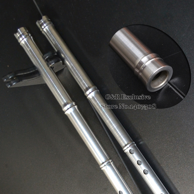 Stainless Steel Chinese Flute Xiao Traditional Professional Vertical Musical Instrument 8 Hole In F/G Key Handmade Ethnic Flauta