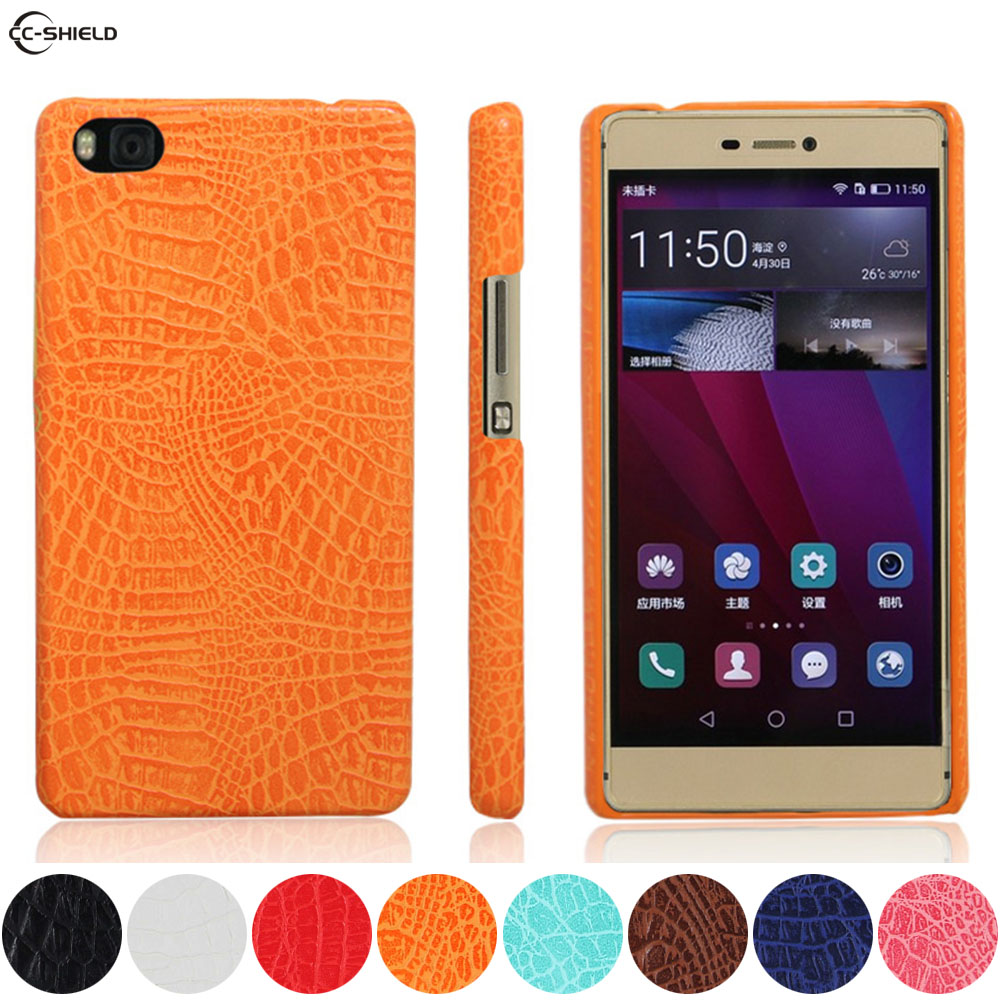 Leather Case for Huawei P8 GRA-L09 GRA-UL10 GRA-UL00 Phone Bumper Fitted Case for Huawei P 8 GRA UL10 L09 Hard PC Frame Cover