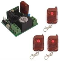 Super Mini AC 220V 10A Relay 1CH 433 315 MHz Wireless Rf Remote Switch 3 Transmitter