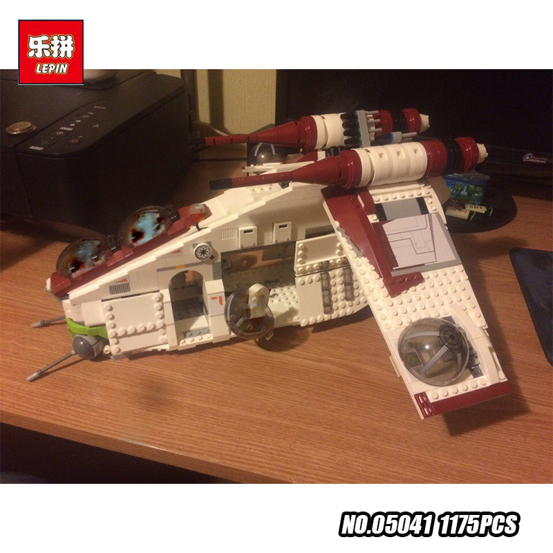 New Lepin 05041 Genuine Star War Series The The Republic Gunship Set Educational Building Blocks Bricks Educational Toys 75021 new lepin 05041 1175pcs stars republic set gunship model educational building kits blocks bricks compatible war toys gift 75021