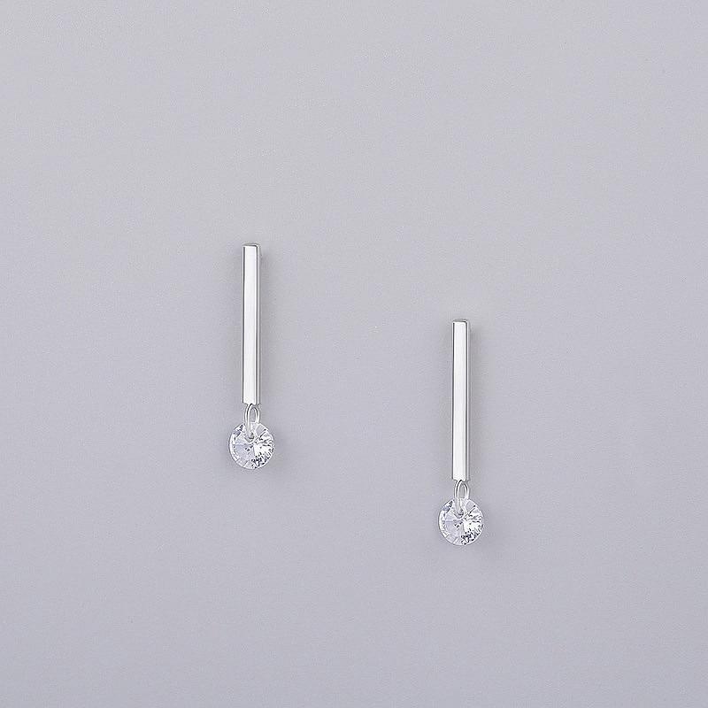 INZATT OL Minimalist Stick Bar Zircon Stud Earrings 2018 100% 925 Sterling Silver Fine Jewelry For Women Party Trendy Accessorie