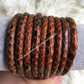 4mm Luxury Python Leather Cord 2015 Top Sale High Quality Leather cord 4mm Brown Python Leather Cord To Make Bracelets