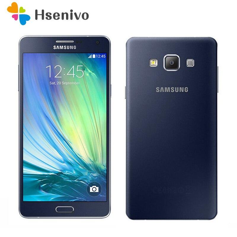 Téléphones mobiles d'origine Samsung Galaxy A7 Duos A7000 4G LTE octa-core Dual SIM 1080 P 5.5 ''13.0MP 2G RAM 16G ROM Smartphones