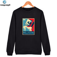 3c6b5e80e4c606 2019 New brand marshmello face hoodie sweatshirt men women casual pullover hoodies  sweatshirts plus size fashion