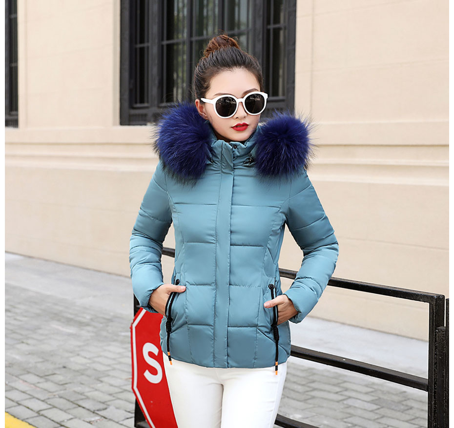 HTB1z9FpFH5YBuNjSspoq6zeNFXaU 2019 Winter Jacket women Plus Size Womens Parkas Thicken Outerwear solid hooded Coats Short Female Slim Cotton padded basic tops