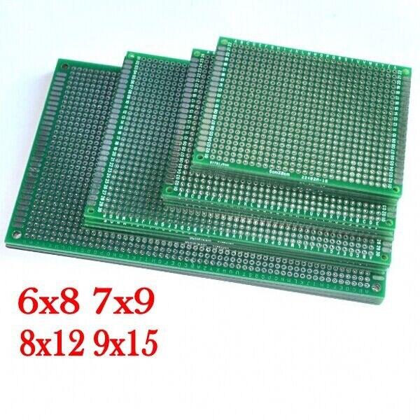 4 pçs 6x8 7x9 8x12 9x15 cm 6*8 7*9 8*12 9*15cm dupla face protótipo de cobre pcb placa universal para arduino frete grátis