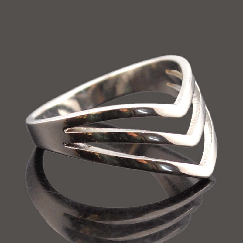 dolaime 316l stainless steel women fashion v groove simple egyptian retro style exquisite ring gr583 - Egyptian Wedding Rings
