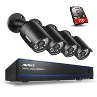 ANNKE 4CH 1080P AHD DVR Kits 4PCS 2 0MP IR Night Vision Waterproof Security Camera Video