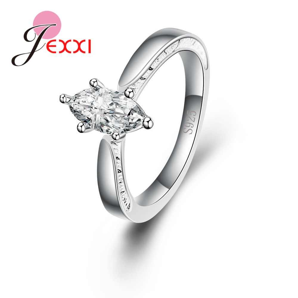 925 Sterling Silver Rings For Women Female Girlfriends New Fashion Elegant Delicate Gifts Wedding Anniversary Anel Bijoux