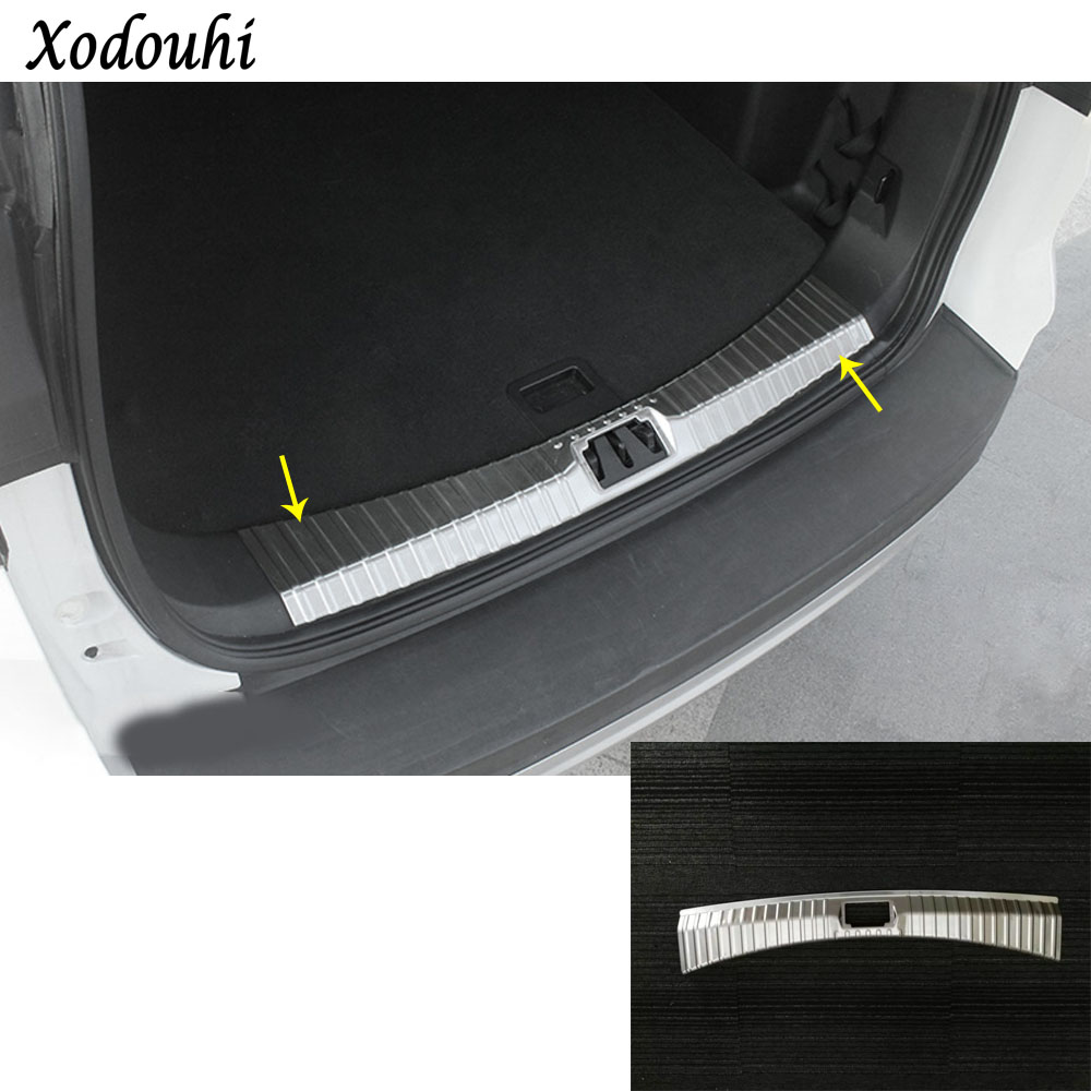 For Ford Kuga 2017 2018 2019 Car body Stainless Steel Inner inside Rear trunk Bumper trim plate lamp frame threshold pedal 1pcs