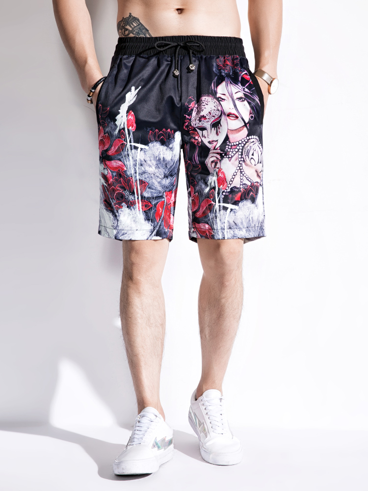 Brand Summer Plus Size   Board     Shorts   Men Printed Camouflage Surf Beach   Shorts   Male Quick Dry Plaid Loose   Shorts   S062