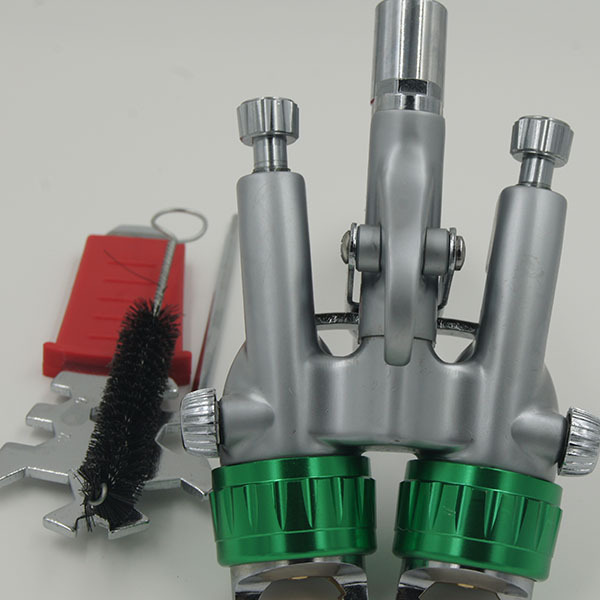 SAT1189 air brush foundation spray painting for cars hvlp paint spray gun air double nozzle hvlp spray gun