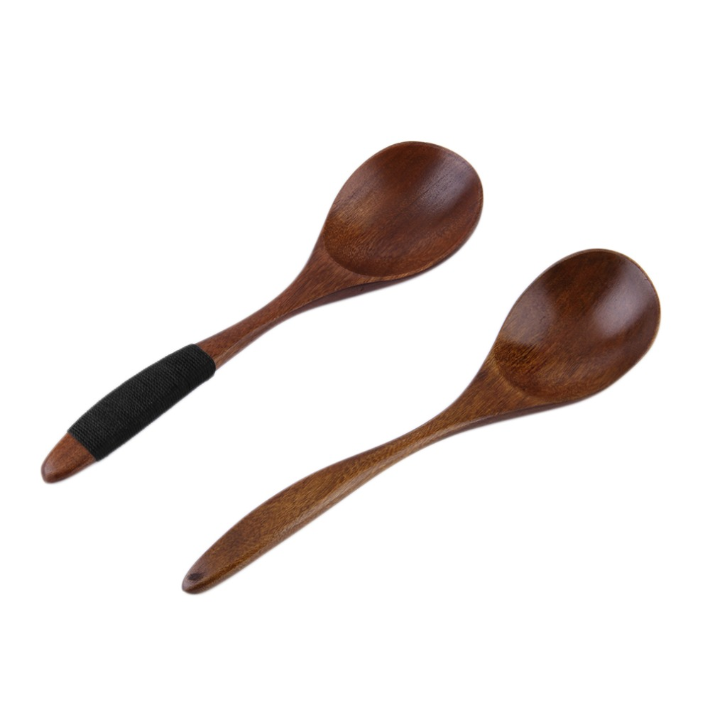 17cm handmade wooden spoon kitchen cooking utensil tool for Wooden kitchen spoons