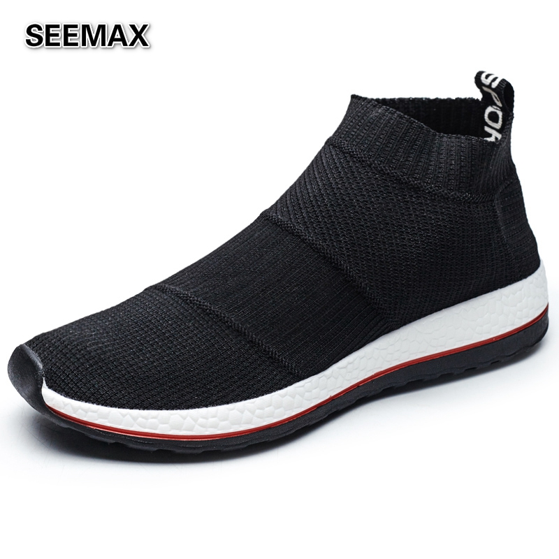 2016 new slip on high top running shoes for