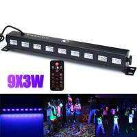 27W Wall Washer LED UV Stage Light Bar Black Disco Blacklight Lamp For DJ Party Christmas