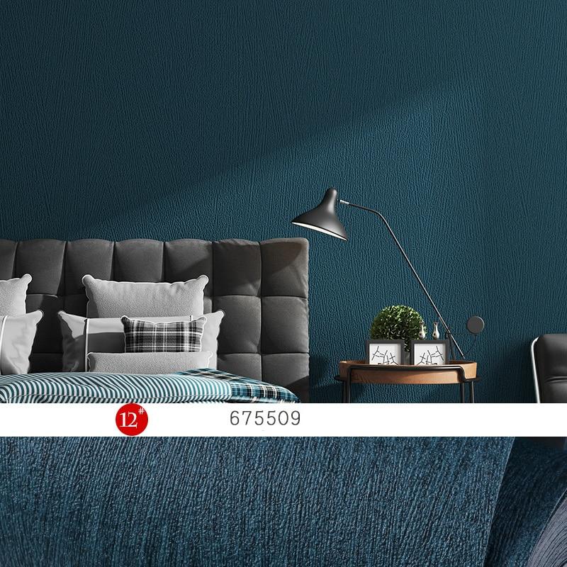 Купить с кэшбэком Nordic Wall Papers Home Decor Solid Color Grey Blue Waterproof Wallpaper Roll for Walls Bedroom Living Room Wall  Decorative