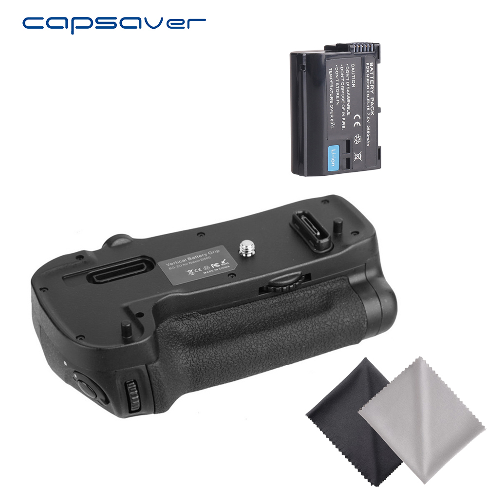 capsaver Vertical Battery Grip with 1pc EN-EL15 Battery for Nikon D500 as MB-D17 Camera Handgrip Holder Pack Battery Set meike mk dr750 vertical battery grip pack holder for nikon d750 rechargeable li ion battery for nikon en el15 cleaning kit