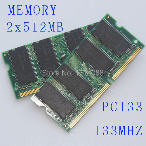 Notebook RAM 1 GB 2 x 512 MB de memória RAM Notebook PC133 133 MHz SDRAM SO-DIMM 144pin de pacote
