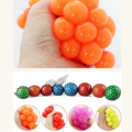 2016 Hot Anti Stress Face Reliever Grape Ball Autism Mood Squeeze Relief Healthy Funny Tricky Toy drop shipping